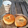 time-out for a coffee and bagel break