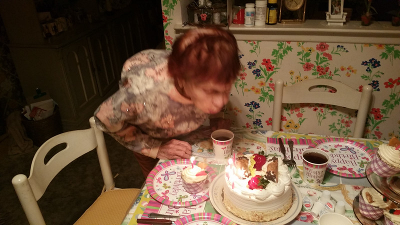 Mary blowing out the Candles
