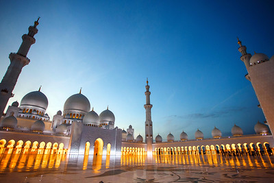 Sheikh Zayed Grand Mosque in Abu Dhabi.