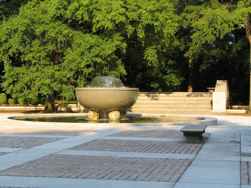 Fountain at Theodore Roosevelt Island, Washington DC.