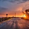 shell beach storm sunset 7359
