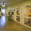 "The hallway of the shelter was designed to be extra wide for multiple purposes.   It provides plenty of ""elbow room"" as staff and volunteers are moving throughout the shelter.  It serves as a meeting or community room.  We use it for volunteer meetings, trainings,  parties and even fundraisers.  A flat screen TV allows us to present educational videos and webcasts."
