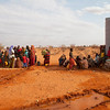 Refugees queue for water at an Oxfam watertank, Haloweyn Refugee camp, Dolo Ado, Ethiopia