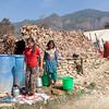 Girl doing laundry, Pipaldanda, Sindhupalchowk, Nepal