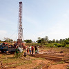 Bore hole drilling at ShelterBox camp in Idah, Kogi State, Nigeria