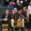 STAN HUDY - SHUDY@DIGITALFIRSTMEDIA.COM<br /> The Plainsmen assistant coaches Josh Koopman, Dolph Beyer and Ryan Lossano voice theiir displeasure about a call Sunday, Jan. 22, 2017 at Shenendehowa High School East.