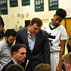 STAN HUDY - SHUDY@DIGITALFIRSTMEDIA.COM<br /> Shenendehowa coach Tony Dzikas adresses his team during the second half of their non-league contest with Green Tech, Sunday, Jan. 22, 2017 at High School East.