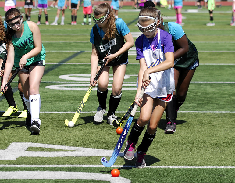 STAN HUDY - SHUDY@DIGITALFIRSTMEDIA.COM<br /> Photos from the 2nd annual Stick Starz youth field hockey camp on the Shenendehowa campus in Clifton Park, N.Y.