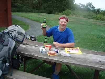 Lunch break at Loft Mountain camp store.