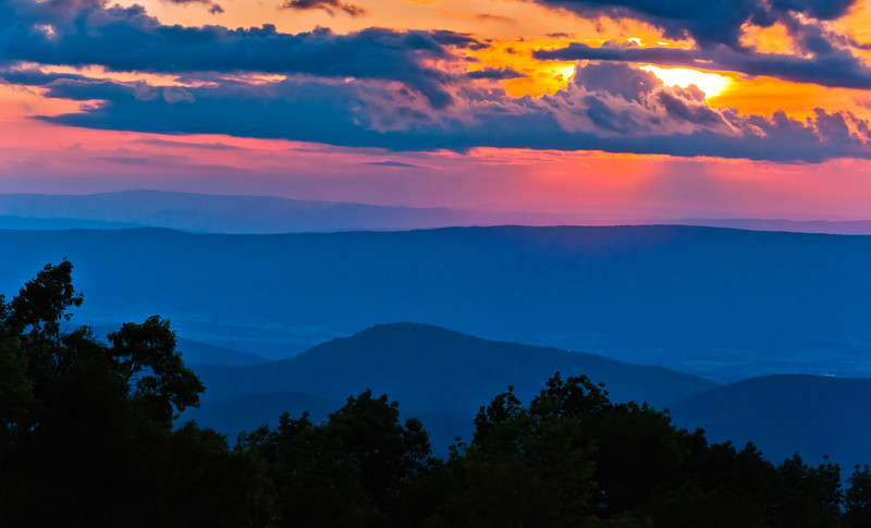 Sunset from Skyline Drive, Shenandoah National Park, Virginia