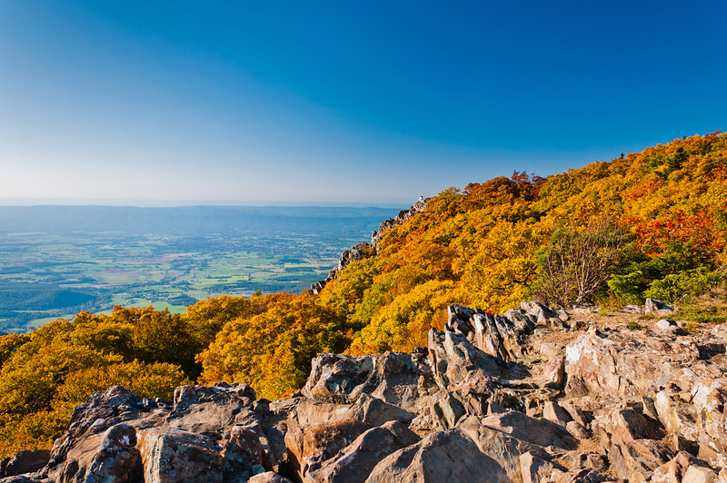 Autumn View of Appalachians from Stony Man Mountain, Shenandoah National Park, Virginia