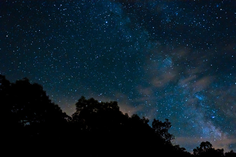 Milky Way Galaxy, Skyline Drive, Shenandoah National Park, Virginia
