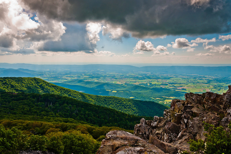 View from Stony Man Cliffs, Shenandoah National Park, Virginia