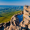 View of the Shenandoah Valley from Little Stony Man Cliffs, Shenandoah National Park, Virginia.