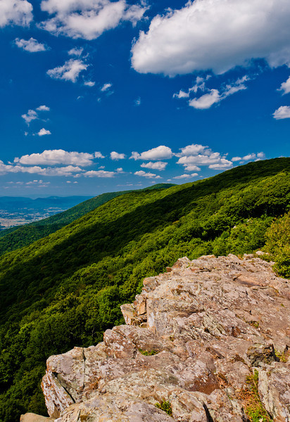 View of the Appalachians from Crescent Rock, Shenandoah National Park, Virginia.