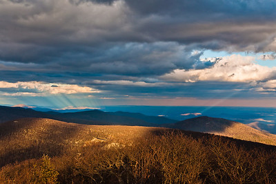 Dramatic Light Conditions from Hawksbill Mountain, Shenandoah National Park, Virginia