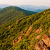 Evening view from the Pinnacle, along the Appalachian Trail in Shenandoah National Park, Virginia.