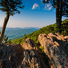Evening view of the Blue Ridge from Jewell Hollow Overlook, on Skyline Drive in Shenandoah National Park, Virginia.