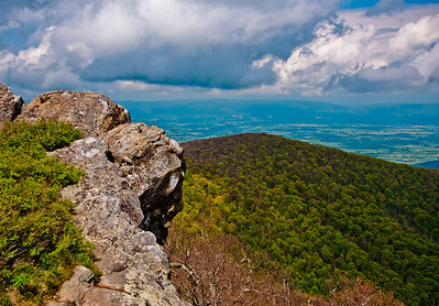 Early spring view from Hawksbill Summit, Shenandoah National Park, Virginia