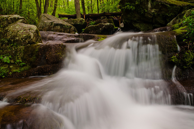 Small waterfall on Hogcamp Branch, Shenandoah National Park, Virginia