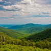 View of the Appalachians from Pinnacles Overlook, on Skyline Drive in Shenandoah National Park, Virginia.