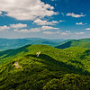 View of Skyline Drive and the Blue Ridge from Little Stony Man Mountain, Shenandoah National Park, Virginia.