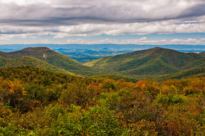 View of Appalachian Mountains from Overlook on Skyline Drive, Shenandoah National Park, Virginia