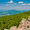 View of the Shenandoah Valley from North Marshall,  in Shenandoah National Park, Virginia.