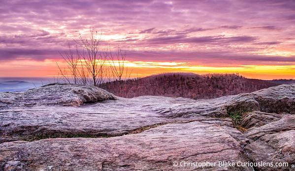 Shenandoah Rocks and Clouds