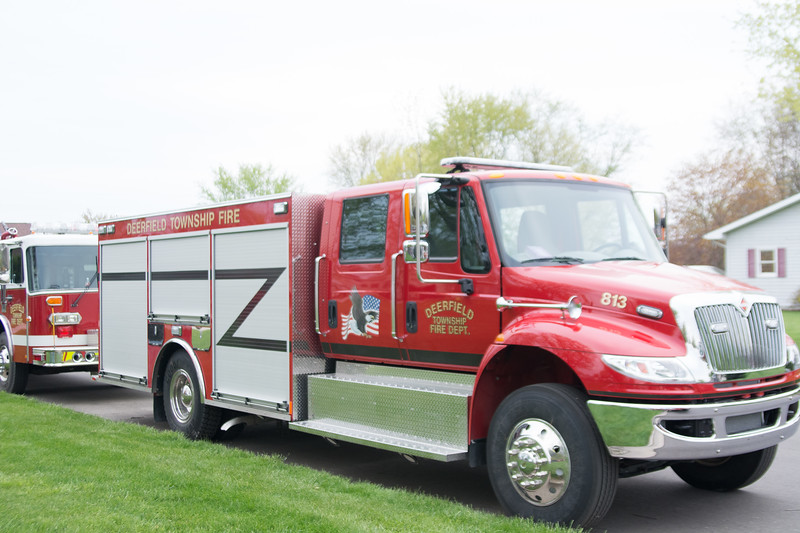 photo by Megan Elizabeth Photography  Shepherd Residents kicked off the 59th annual Maple Syrup Festival with there Emergency Vehicle Parade. Winner of best truck, as chosen by the Maple Syrup Queen and her court, went to the Saginaw Chippewa Fire Department.