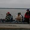 Claude is still getting ready to set the hook.  Coaching by guide Mark Macnamara.