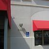 Handicap sign and floodlight