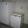 An old refrigerator and freezer.