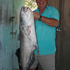 Bruce Oslie and his 42 pound monster catfish