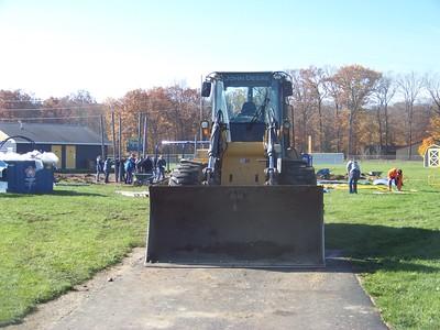 Jon Morgan - Morning Sun  Construction a new playground in Shepherd.