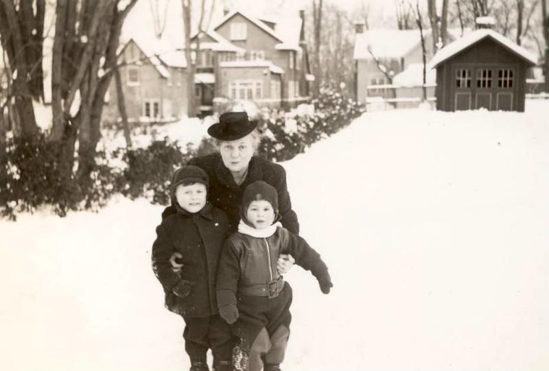 """ Jan 1944<br /> Grandma  Bobby and Deanie<br /> Bobby 4 years<br /> Deanie 2 year 3 months""bpo"