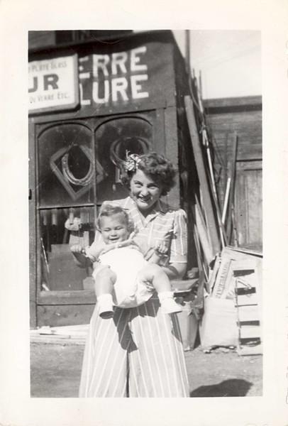 Helen and Deanie, Magog Street, 1942