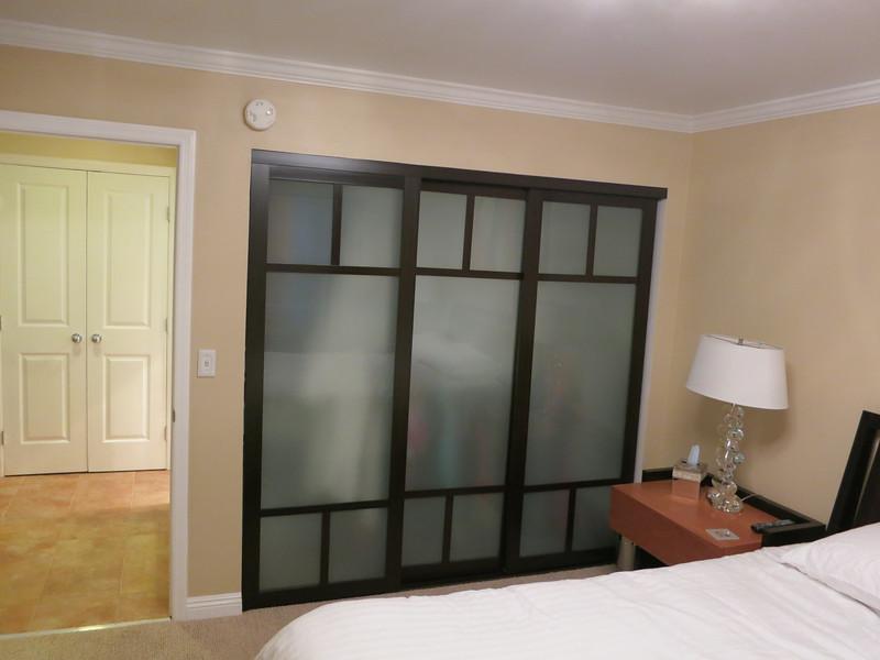 The closet doors...
