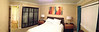 A panoramic picture of the master bedroom in SB