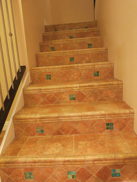 Stair tile details.