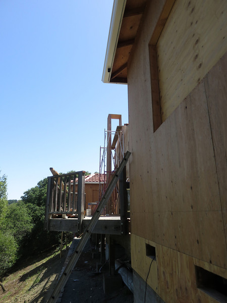 More of the back of the house - the chimney is back!