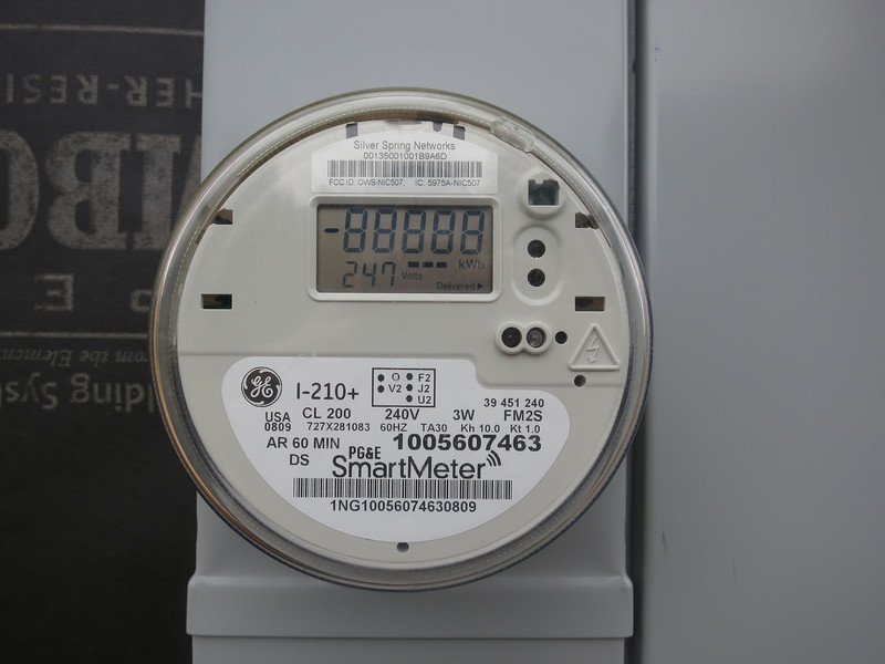 Close up of the SmartMeter