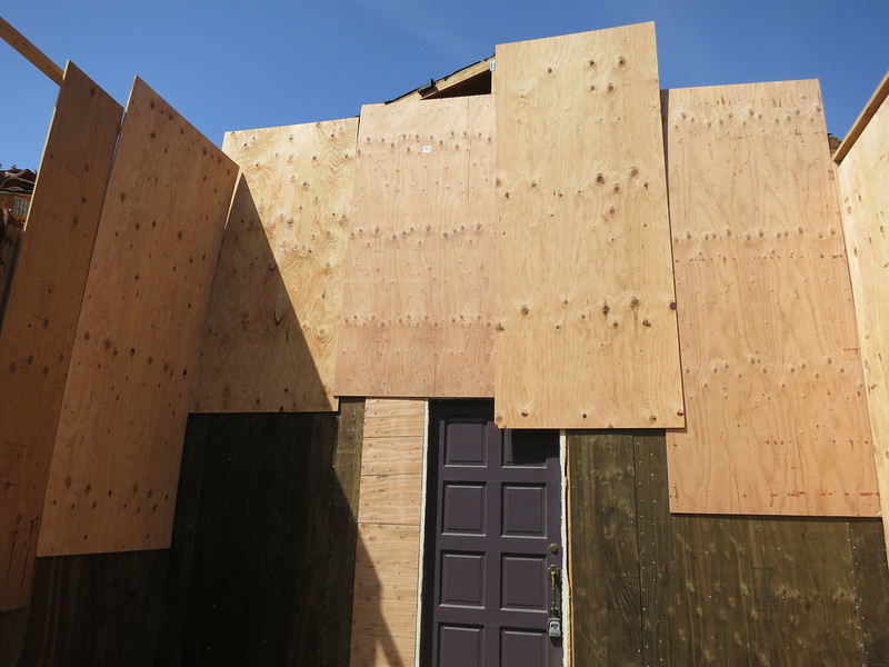 So classy. Looks like a southwestern building. But Plywood.