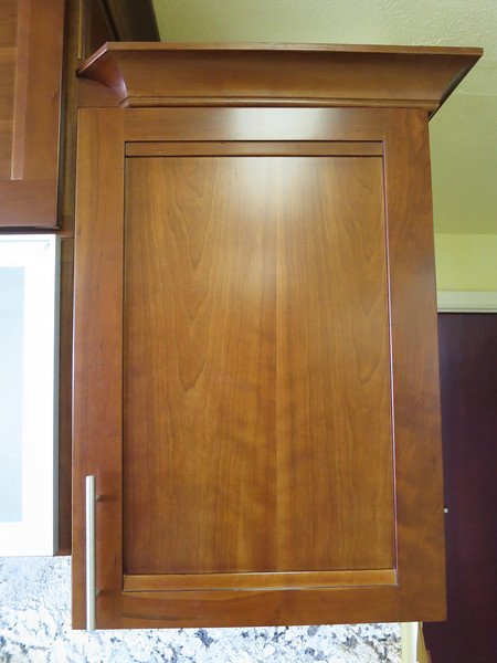 Another shot of the kitchen cabinet style - modified shaker, cherry