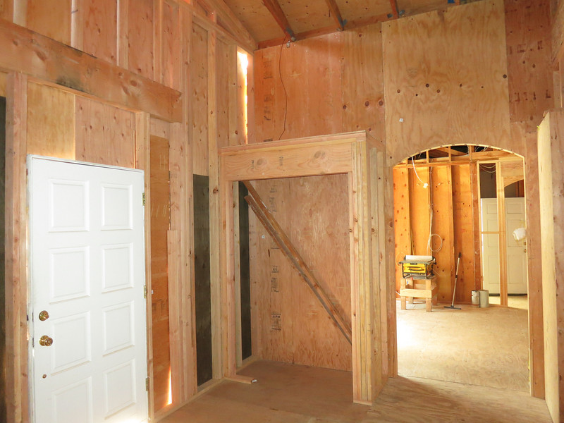 The right front closet framed