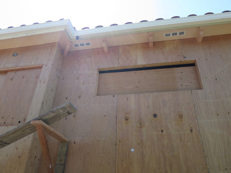 Starting to have the decorative beams on the eaves - this is by the master bedroom