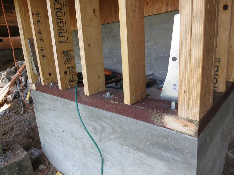 Another shot of the chimney framing.