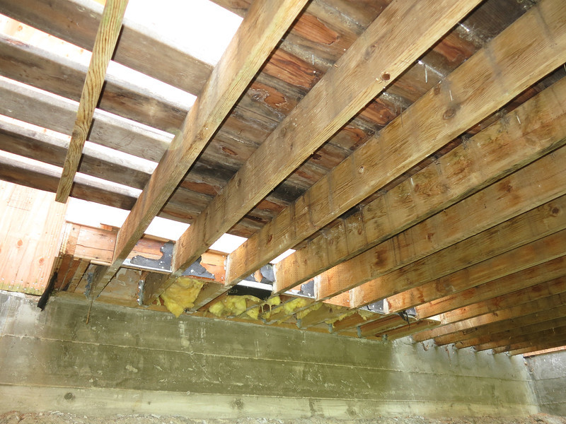 More of the deck joists and the french door pop out