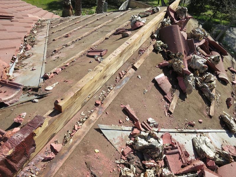 Wad 'em up good boys, we're roofers now!
