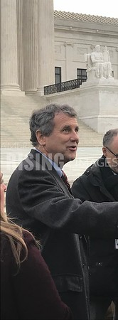 Sherrod Brown At Supreme Court In Washington, DC